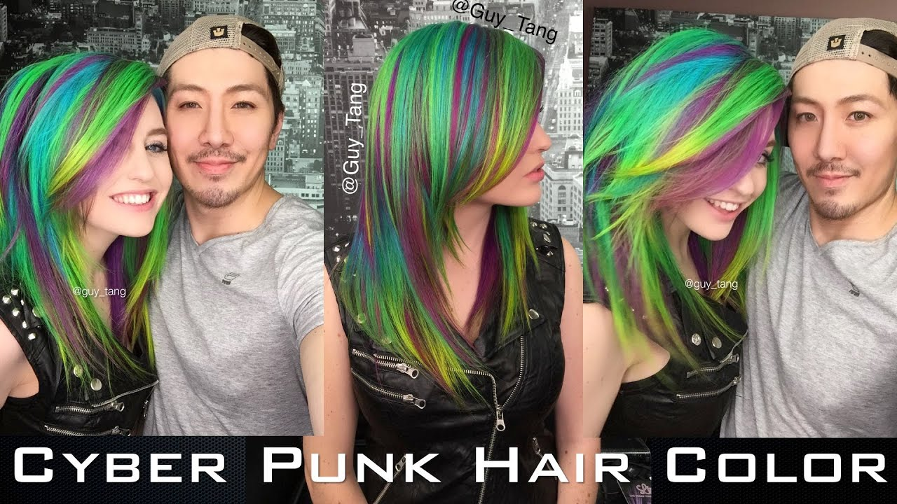 Cyber Punk Hair Color Youtube