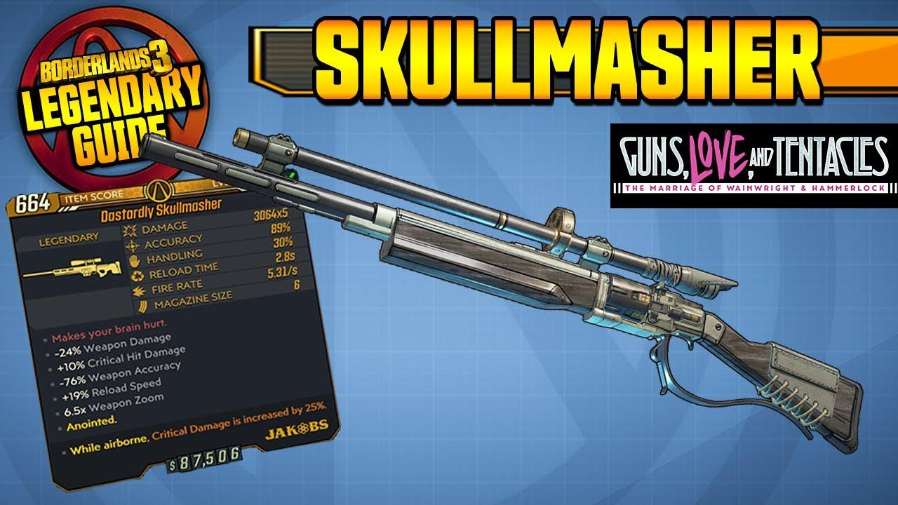 BORDERLANDS 3 | SKULLMASHER - Legendary Weapons Guide!!! Guns, Love & Tentacles DLC thumbnail