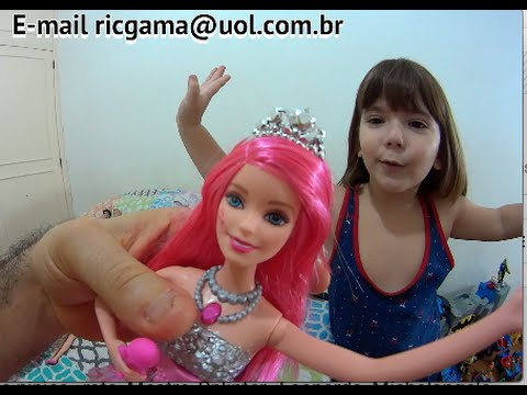 Barbie Rock'n Royals Filme boneca Princesa Courtney cantora menina canta brinca Toys Brinquedos