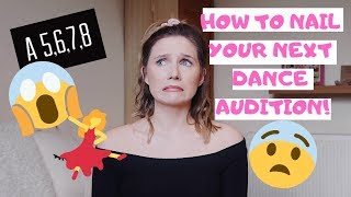 HOW TO NAIL YOUR NEXT DANCE AUDITION! | Georgie Ashford