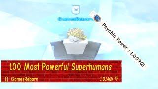 1 Quintillion Psychic Power! - Super Power Training Simulator (ROBLOX)