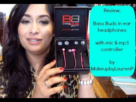 Review: Bass Buds in ear headphones w| hands free mic & mp3 controller MY NEW FAV!