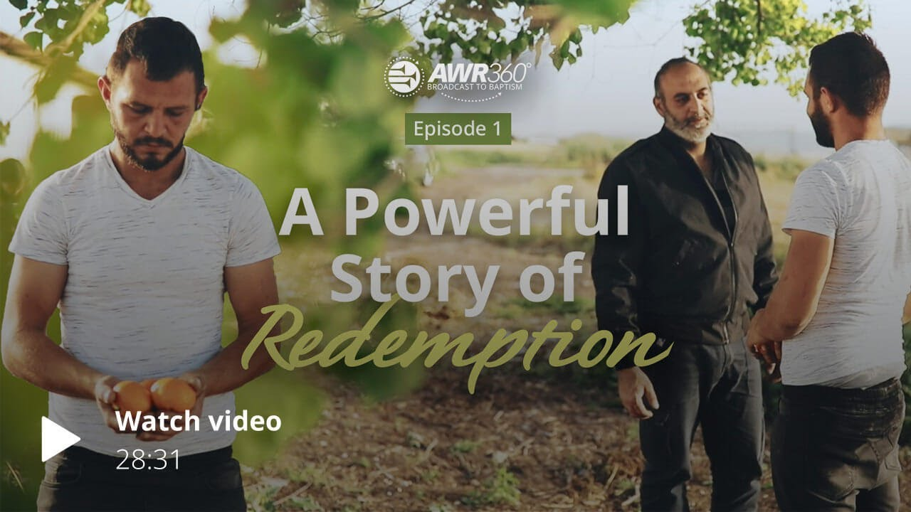video thumbnail for AWR360° Broadcast to Baptism – Episode 1 – Wisam's Story