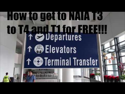 How to get to NAIA Terminal 3 to Terminal 1 and 4 for FREE using the Free Airport Shuttle Bus