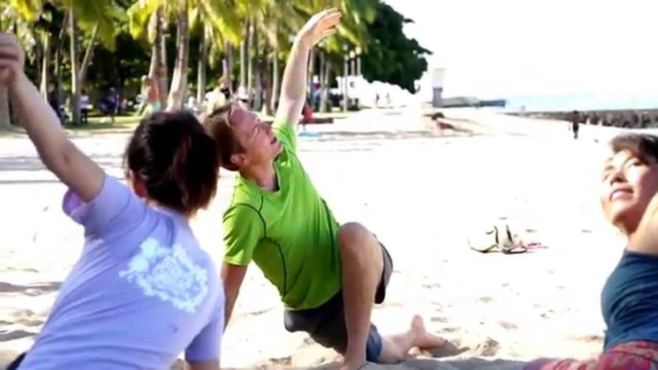Honolulu Beach Yoga In Waikiki Hawaii