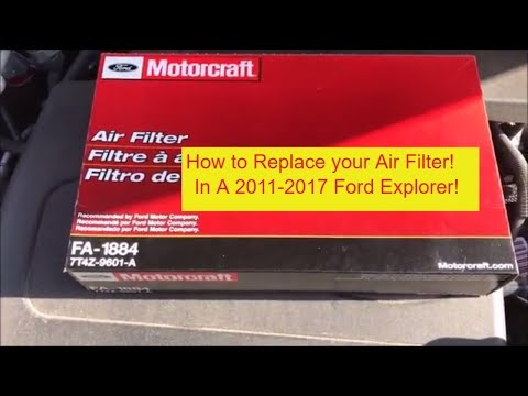 How-to Change The Air Filter in a 2011-2017 Ford Explorer replace