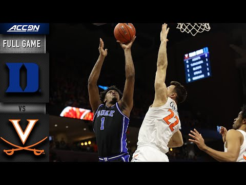 Duke Vs. Virginia Full Game | 2019-20 ACC Men's Basketball