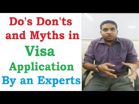 Do's Don'ts and Myths about Visa Application ||  Experts Guide || Visa Process || PhD MS in US