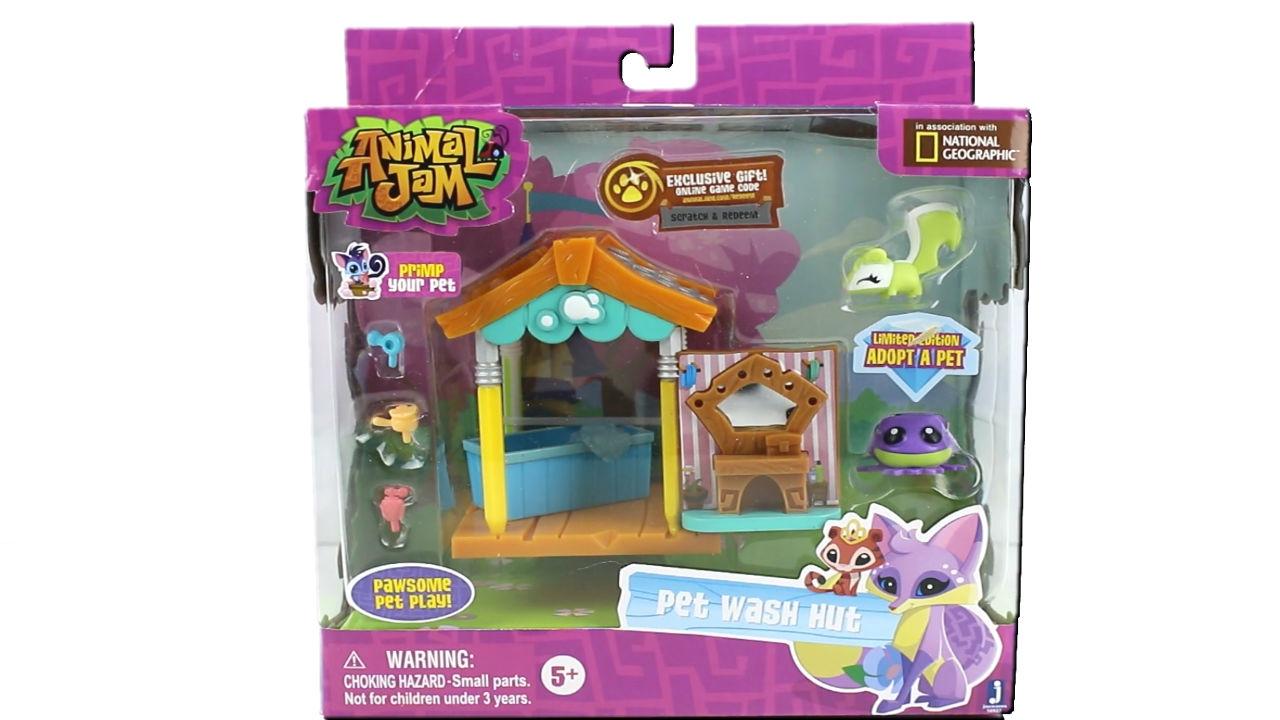 Animal Jam Pet Wash Hut Set Unboxing Toy Review Youtube