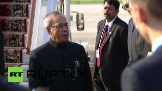 Russia: Indian President Mukherjee touches down in Moscow ahead of V-Day