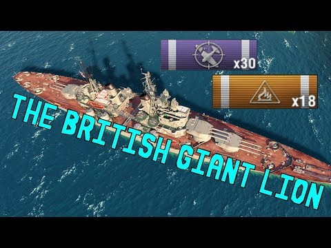 The British Giant Lion - 228k Dmg || World of Warships