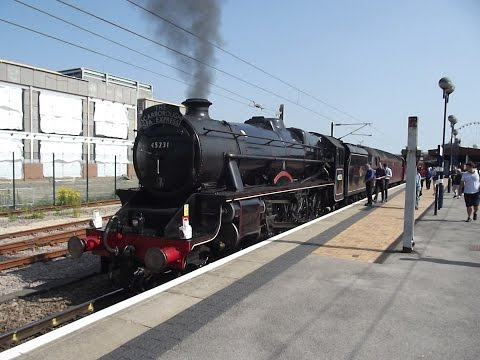 45231 Sherwood Forester & 47760 The Scarborough Spa Express Bash!! Re-Uploaded HD!! 17/7/2013