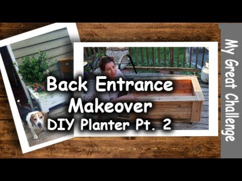 Back Entrance Makeover || DIY Planter || Part Two ||