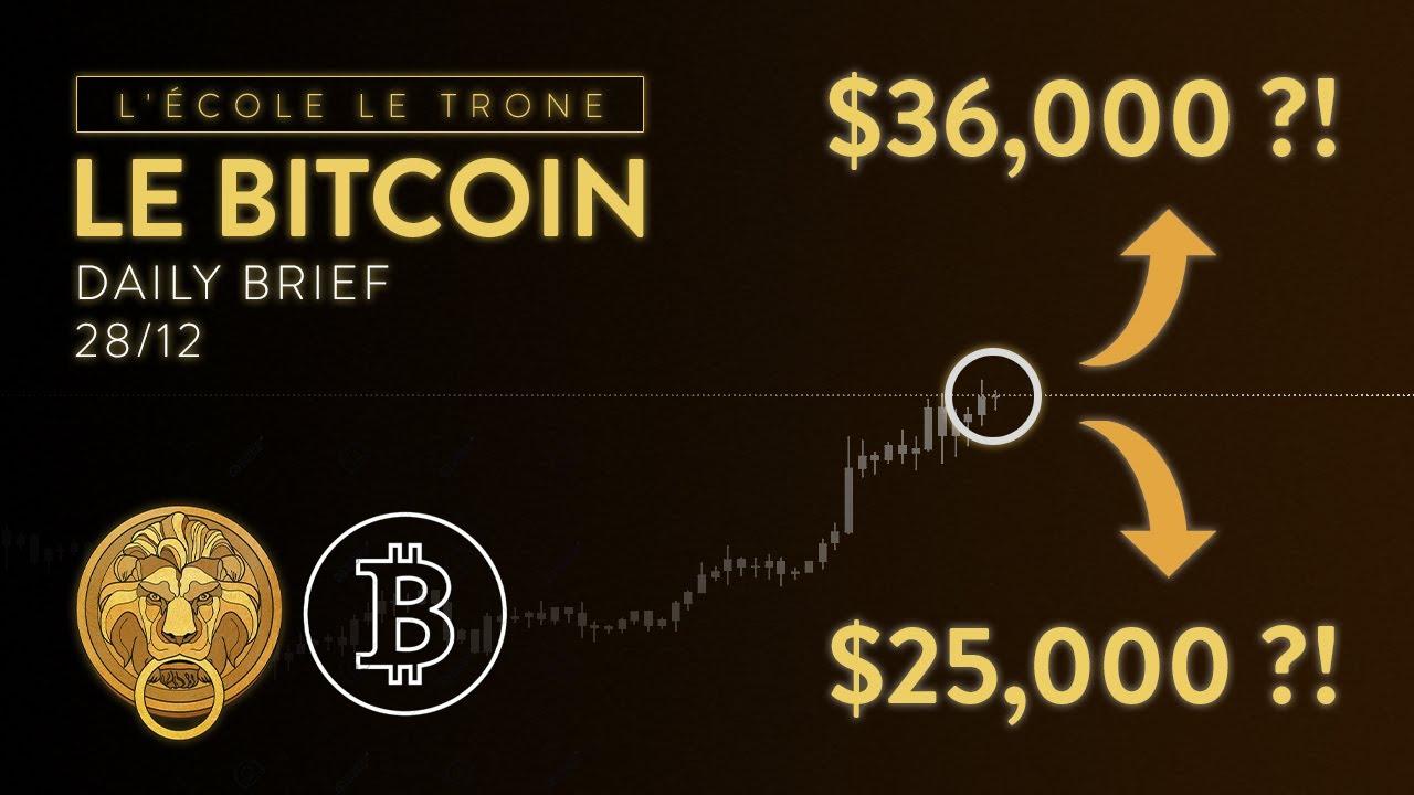 BITCOIN DIRECTION $36,000 POUR FIN JANVIER ?!! 16,000 BTC PARIÉS SUR LES OPTIONS !!
