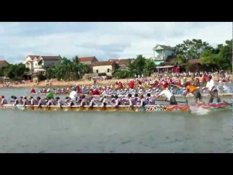 [30/08/2012]Clip 2 - Lễ hội bơi đua thuyền truyền thống trên sông Kiến Giang