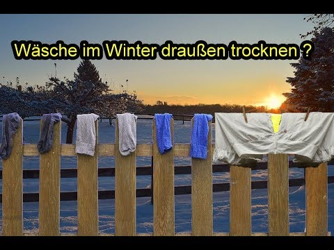 w sche im winter drau en trocknen w sche bei frost k lte minusgraden aufh ngen youtube. Black Bedroom Furniture Sets. Home Design Ideas