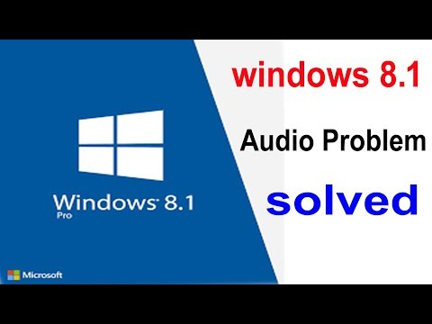 Window 8.1 Me Audio Problem Ko Kaise Thik Kare,How To Solve Audio Problem In Windows 8.1,हिंदी में