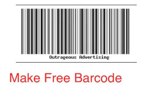 How To Make a Barcode Free - YouTube