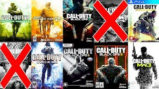 Top 10 CALL OF DUTY Games from WORST to BEST (HARD LIST)