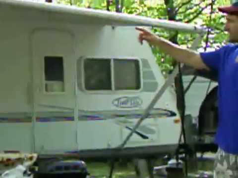 How To Take Down Retractable Rv Awning Part 2 Of 2 Youtube