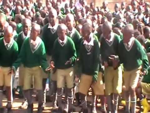 World Hope Academy Grade 5 pupils perform a poem (My dreams come true)