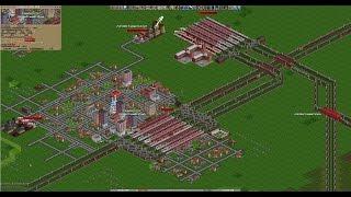 City Building in Open Transport Tycoon Deluxe  - Goal: 4000 inhabitants