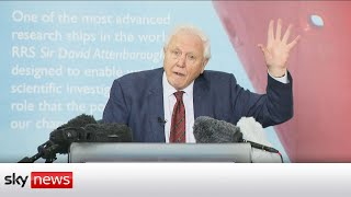 Sir David Attenborough urġes nations to co-operate on climate change