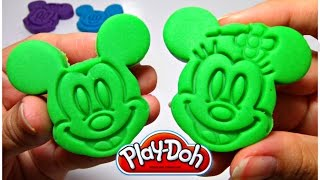 Play and Learn Colours with Mickey Mouse Playdough Modelling Clay - Ingrid Play Doh Compilation