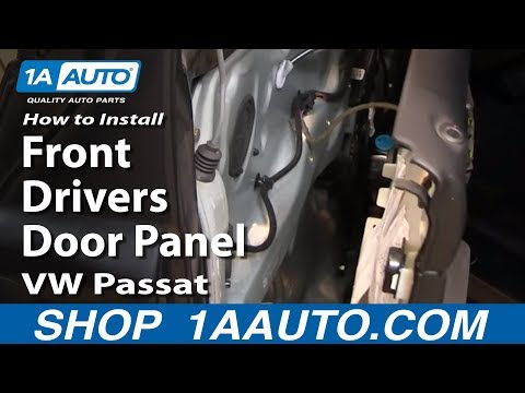 How to install replace remove front drivers door panel 98 for 1999 vw passat window regulator
