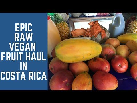 EPIC Raw Vegan Fruit Haul in Costa Rica