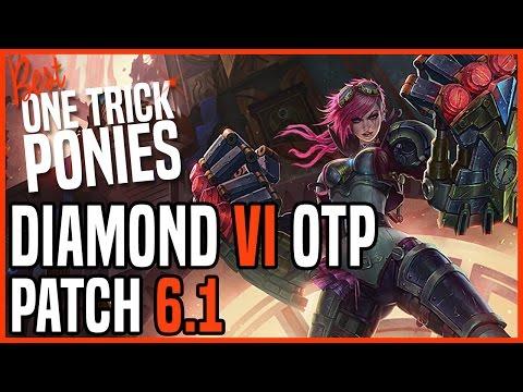 Patch 6.1 Vi Jungle OTP - Matchup: Lee Sin - Ranked Diamond KR