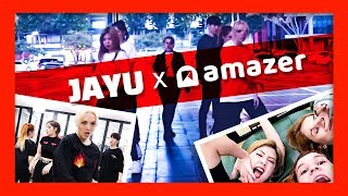 Kpop dance cover in public (Korea) - Russia's Top Dance Crew JAYU x Amazer