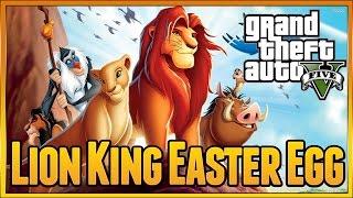 Grand Theft Auto 5 - NEW Lion King Easter Egg, Simba Cliff Scene Easter Egg