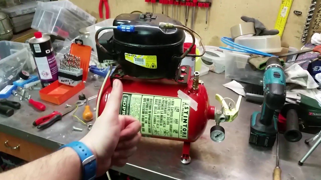 Diy compressore frigorifero estintore for Frigorifero silenzioso