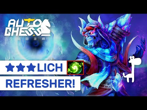 ★★★ LICH REFRESHER! Dota Auto Chess DEADALUS + KAYA CARRY LICH?!