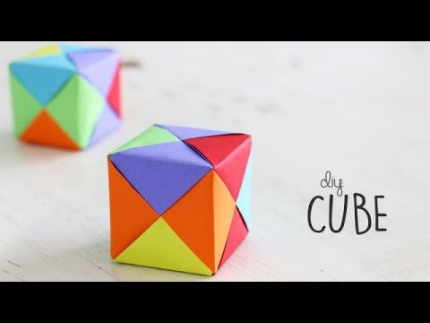 How to make Paper Cube | Paper Craft | DIY Origami Tutorial | Ventuno Art