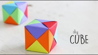 How to make Paper Cube | Paper Craft | DIY Origami Tutorial | Ventuno Art YouTube Videos