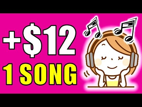 Earn $12.00+ Every SINGLE Song YOU Listen?!! (NEW RELEASE!)