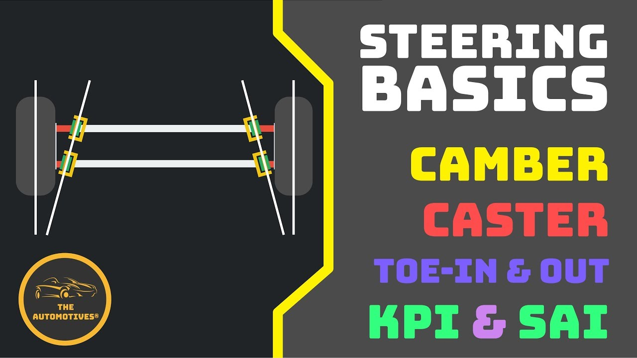 Hindi Steering Basics Camber Caster Toe In Toe Out Kpi