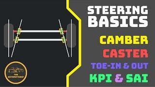 [HINDI] Steering Basics : Camber | Caster | Toe-in | Toe-Out | KPI | SAI | Animation!