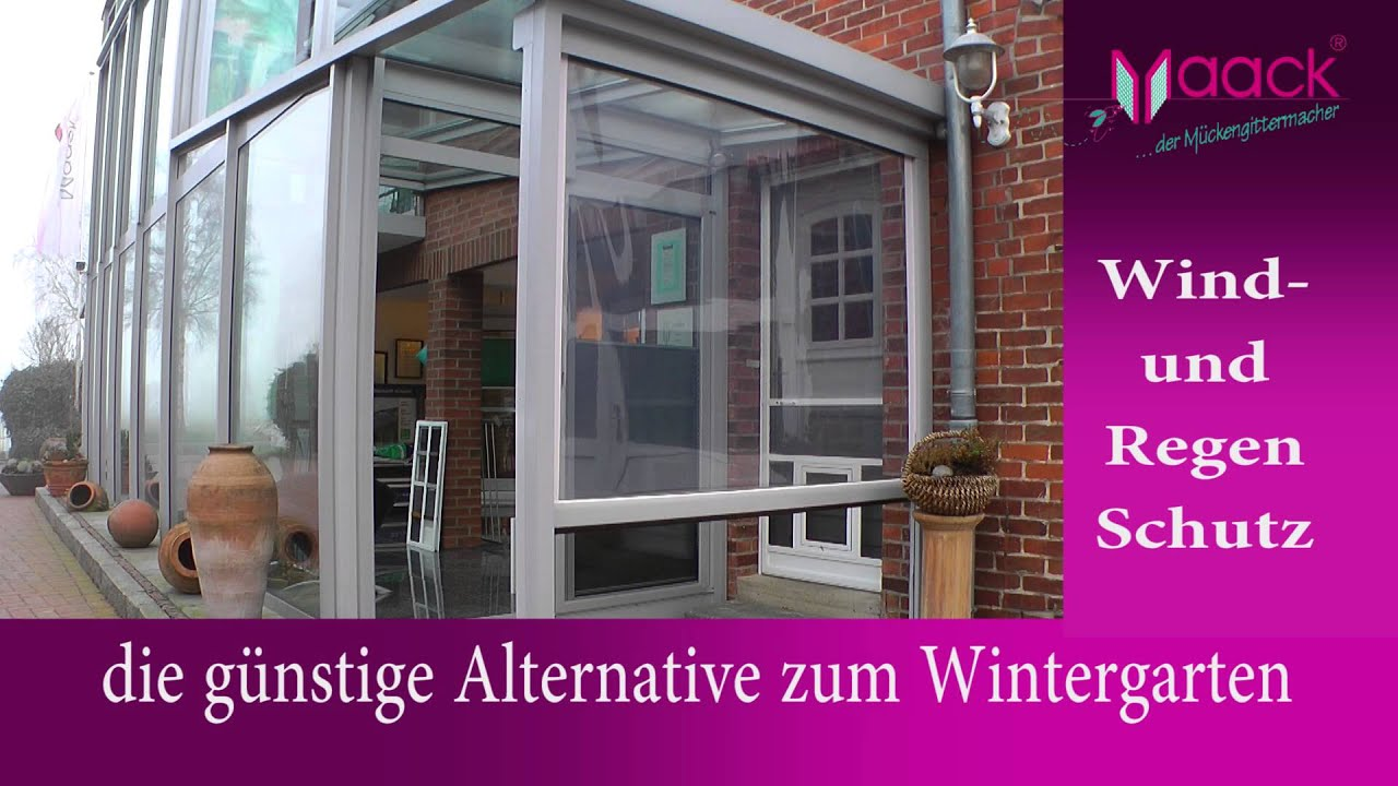Windschutzrollo Terrasse Transparent Closertec Der Rollbare Windschutz Youtube