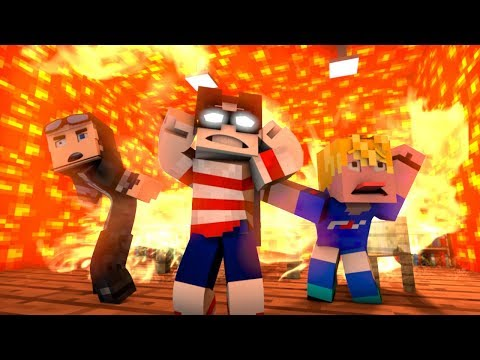 Floor Is Lava CHALLENGE FAILS - Minecraft Animation Collab