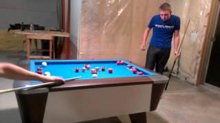 Jesse Engel plays some bumper pool with Sheedz 2013-09-21