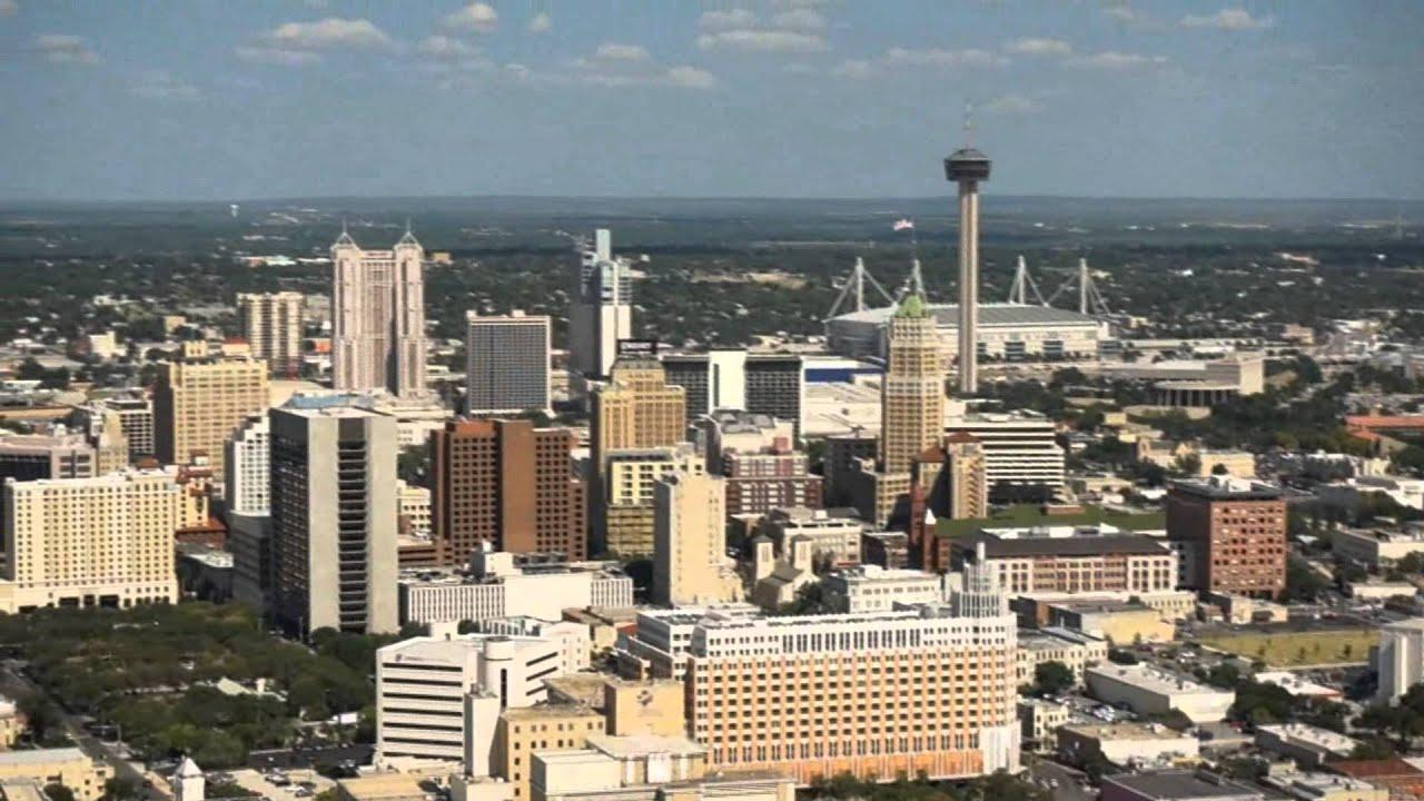 San Antonio Texas Skyline Video Youtube