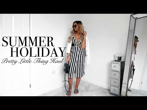 HUGE SUMMER HOLIDAY PRETTY LITTLE THING HAUL // Try-on & Styling