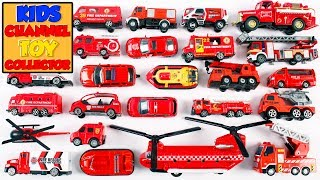 Learning Fire Department Vehicles For Kids Children | Fire Engine Rescue Helicopter Ladder Truck