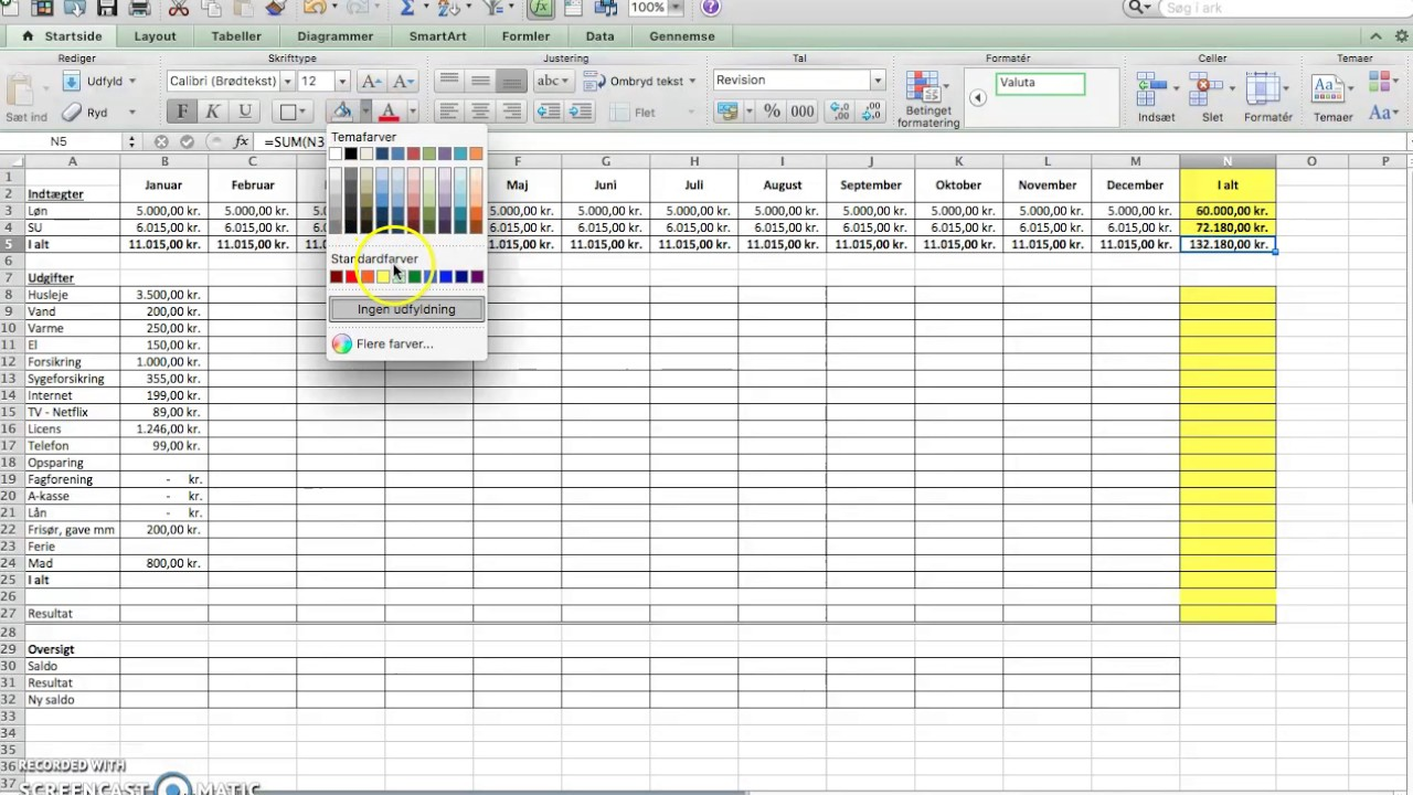 how to make a budget in excel youtube
