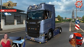 """Euro Truck Simulator 2 (1.38 Open Beta)   Digital Side Mirror & Monitor to the SCANIA 2016 S/R's Next Gen Kiel Germany Motorcycle Traffic Pack by Jazzycat FMOD ON and Open Windows Naturalux Graphics and Weather Test Gameplay ITA Europe Reskin v1.0 by Mirfi + DLC's & Mods  SCS Software News Iberian Peninsula Spain and Portugal Map DLC Planner...2020 https://www.youtube.com/watch?v=NtKeP0c8W5s Euro Truck Simulator 2 Iveco S-Way 2020 https://www.youtube.com/watch?v=980Xdbz-cms&t=56s  #TruckAtHome #covid19italia Euro Truck Simulator 2    Road to the Black Sea (DLC)    Beyond the Baltic Sea (DLC)   Vive la France (DLC)    Scandinavia (DLC)    Bella Italia (DLC)   Special Transport (DLC)   Cargo Bundle (DLC)   Vive la France (DLC)    Bella Italia (DLC)    Baltic Sea (DLC)   American Truck Simulator New Mexico (DLC) Oregon (DLC) Washington (DLC) Utah (DLC)     I love you my friends Sexy truck driver test and gameplay ITA  Support me please thanks Support me economically at the mail vanelli.isabella@gmail.com  Roadhunter Trailers Heavy Cargo  http://roadhunter-z3d.de.tl/ SCS Software Merchandise E-Shop https://eshop.scssoft.com/  Euro Truck Simulator 2 http://store.steampowered.com/app/227... SCS software blog  http://blog.scssoft.com/  Specifiche hardware del mio PC: Intel I5 6600k 3,5ghz Dissipatore Cooler Master RR-TX3E  32GB DDR4 Memoria Kingston hyperX Fury MSI GeForce GTX 1660 ARMOR OC 6GB GDDR5 Asus Maximus VIII Ranger Gaming Cooler master Gx750 SanDisk SSD PLUS 240GB  HDD WD Blue 3.5"""" 64mb SATA III 1TB Corsair Mid Tower Atx Carbide Spec-03 Xbox 360 Controller Windows 10 pro 64bit"""