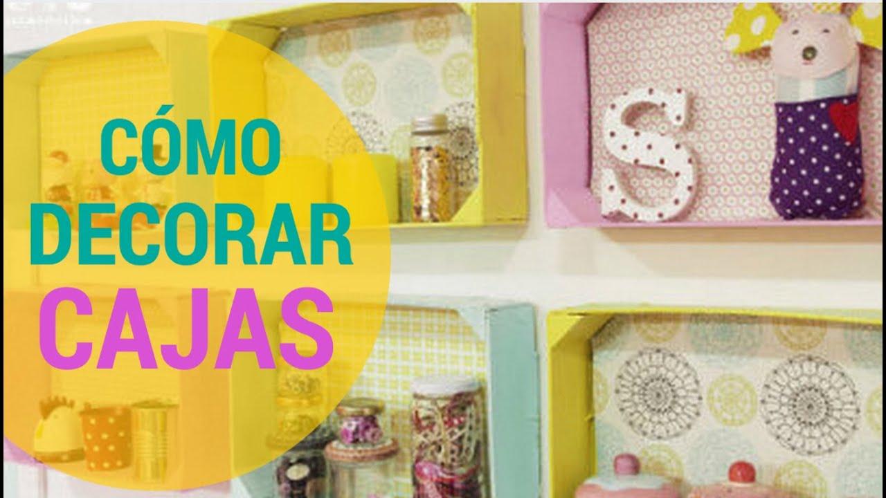 cmo decorar cajas de fruta cajas de madera y cajas recicladas con telas divinasen espaol youtube