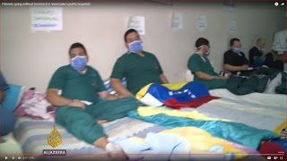 Patients going without treatment in Venezuela's public hospitals.